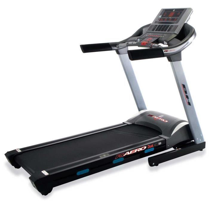 BH Fitness Tapis de Course F5 AERO DUAL G6427LW - 22 Km/h - 140 x 51 cm - Inclinaison éléctrique 12% max - 8 ANS DE GARANTIE