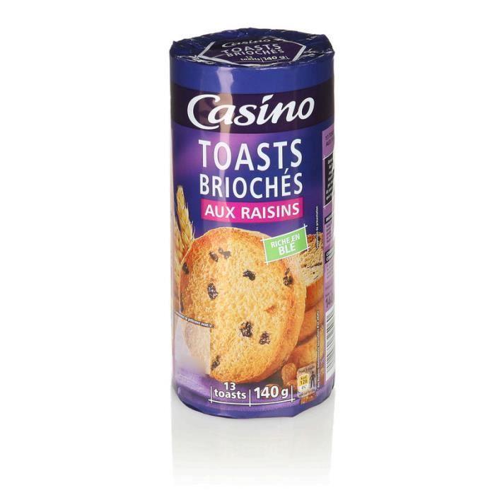 Toasts briochés aux raisins - 140 g