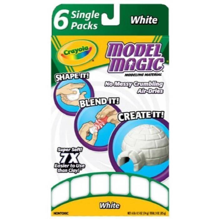 CRAYOLA Modèle unidoses White Magic (6 Single Packs) KT0NV