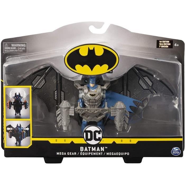Coffret Figurine Batman 10 cm Avec Mega Gear Transformable - DC - Super Heros - Jouet Garcon