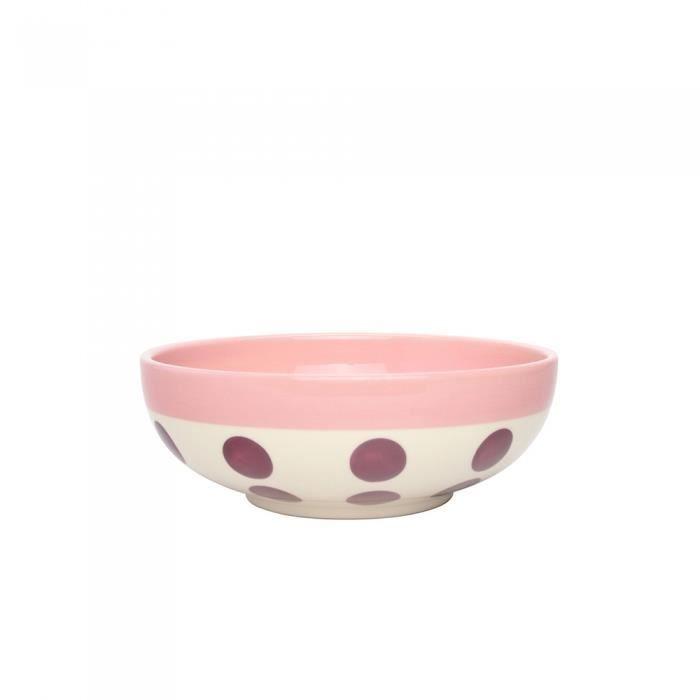 Bol céréales reverso 16,5 cm prune et rose - Déjeuner Sur L'herbe Violet