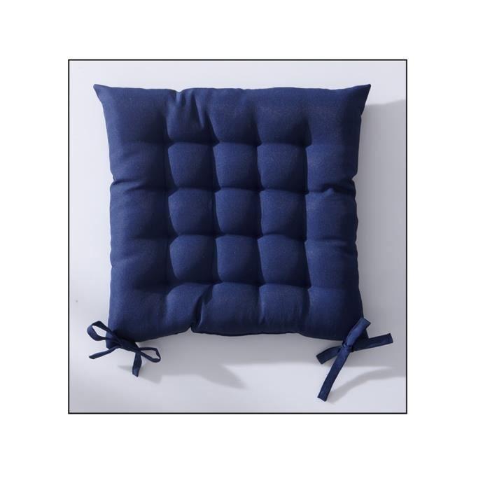 Galette de chaise 40x40 cm matelassé ciel d'orage