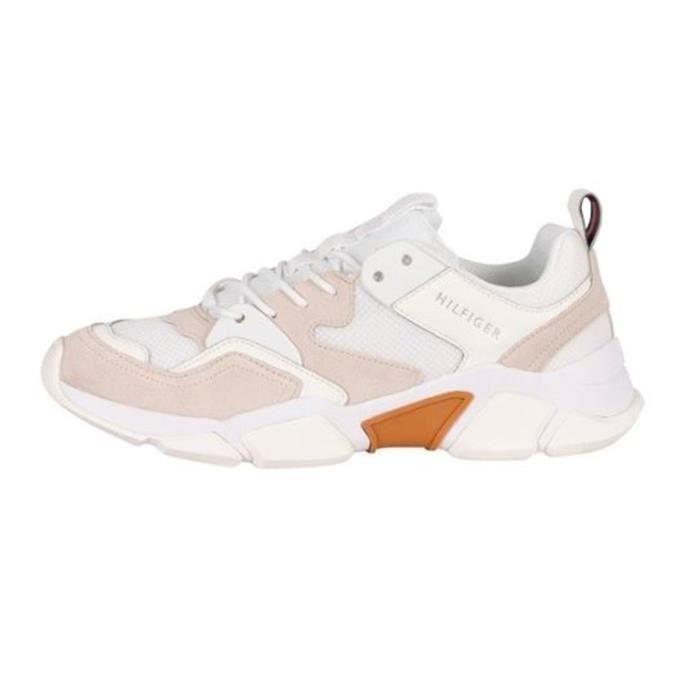 TOMMY HILFIGER FM0FM02850 chaussures de tennis faible Homme BLANC