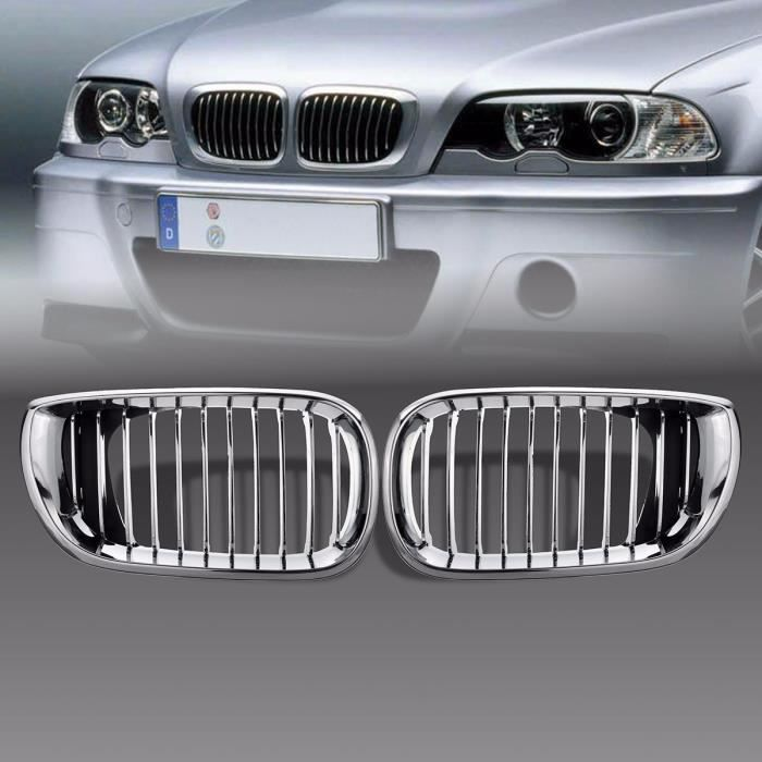 NEUFU 2x Chrome Avant Pare-chocs Calandre Grilles Pr BMW E46 3 Series 02 03 04 05 4 Porte
