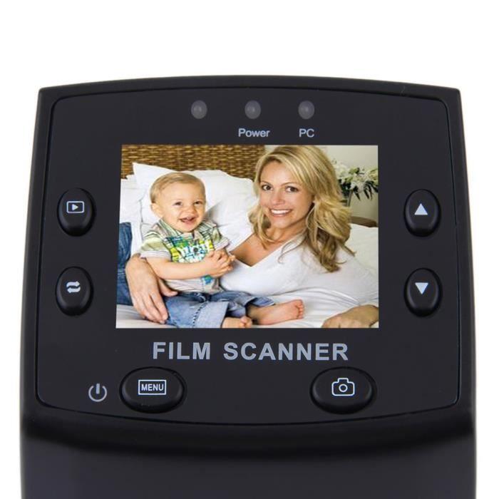 5 mégapixels 35 mm Film négatif Visionneuse de diapositives Scanner USB Couleur Copieur photo intégré Écran LCD couleur