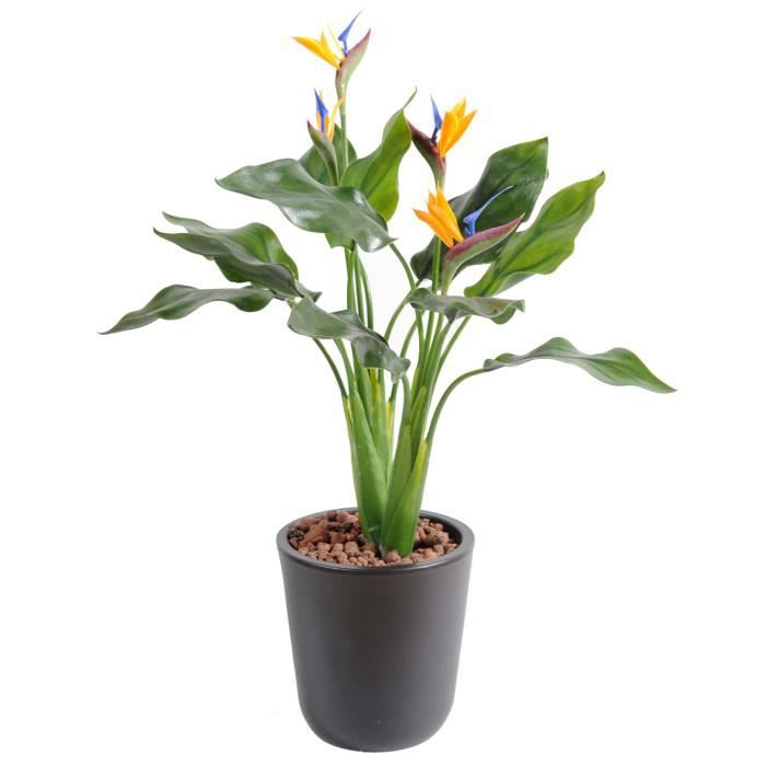 Plante artificielle haute gamme Spécial extérieur - Strelitzia artificiel - Dim : 50 x 35 cm -PEGANE