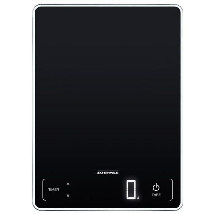 SOEHNLE 0861506 - Balance Electronique PAGE PROFI 100 Noire - 61506 - 15 Kg/1g