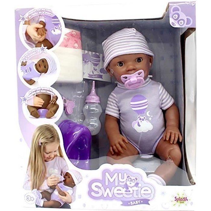 SPLASH-TOYS Poupée - Poupon avec ses accessoires My sweetie baby - Violet