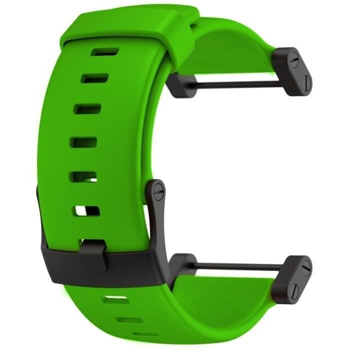 SUUNTO Bracelet de Montre Core Crush Green Flat Silicone Strap
