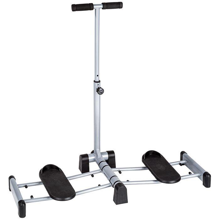 TECTAKE Appareil de Musculation pour Abdominaux Jambes Pliable Réglable en Acier 107 cm x 48 cm x 98 cm Gris