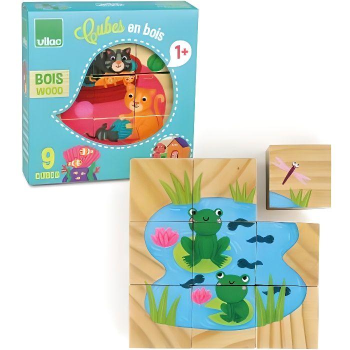 VILAC - Cubes en bois les animaux
