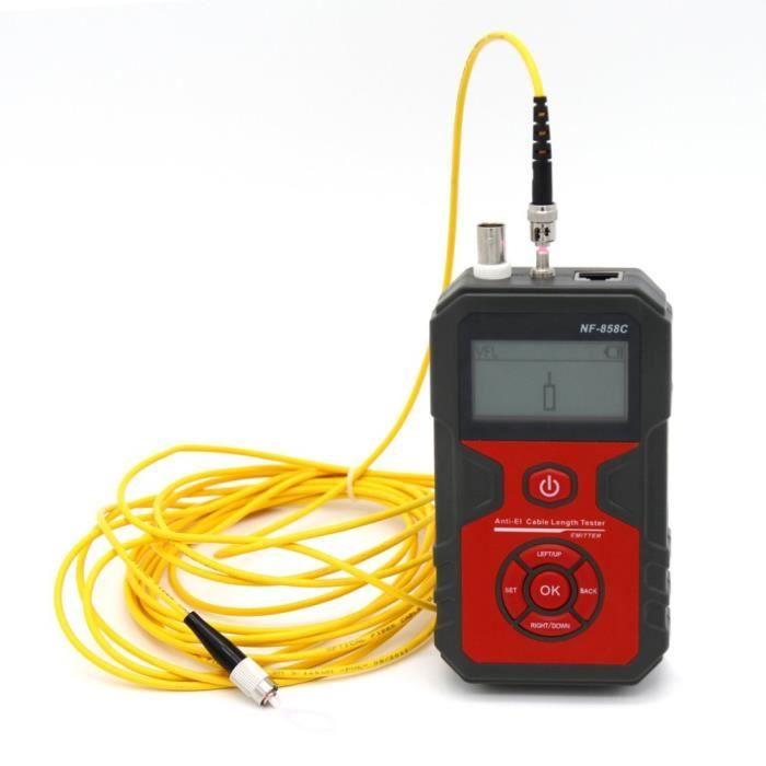 Noyafa NF-858C Rj11 Rj45 Testeur de c/âble coaxial LCD avec fonction VFL