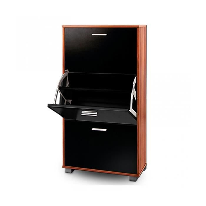 superbe meuble chaussures noir merano achat vente. Black Bedroom Furniture Sets. Home Design Ideas