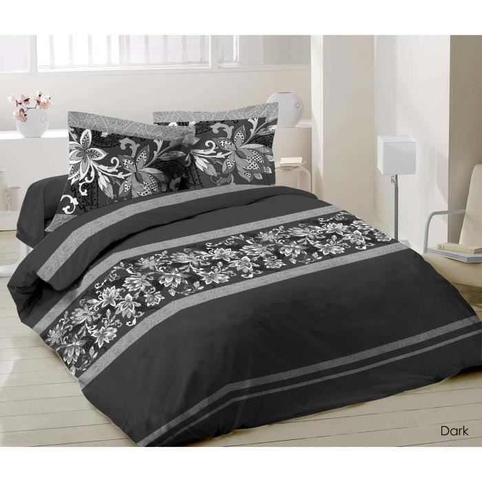 parure de draps 2 personnes 100 coton 140x190 achat vente parure de drap cdiscount. Black Bedroom Furniture Sets. Home Design Ideas
