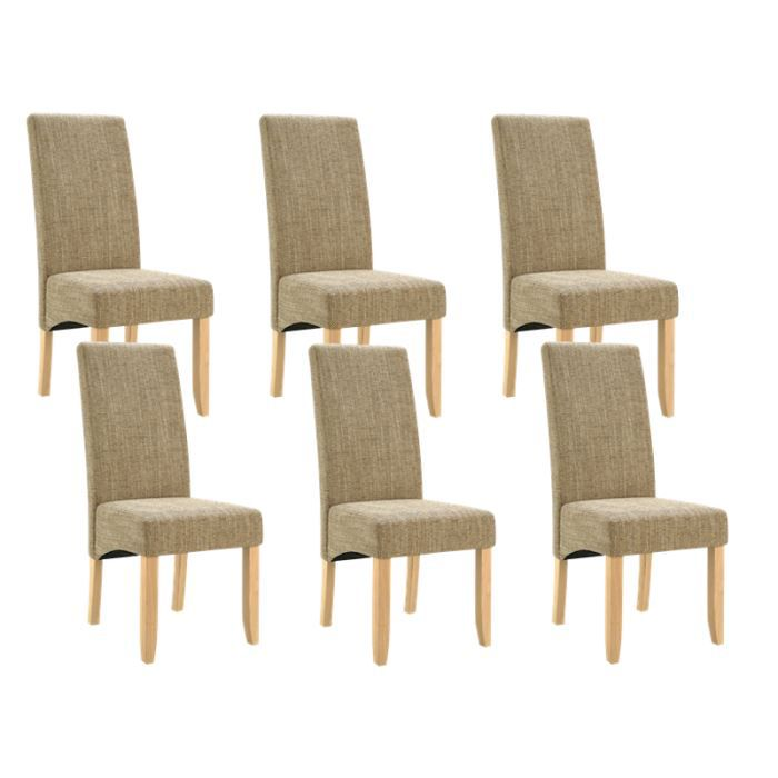 lot de 6 chaises de s jour couleur beige achat vente chaise bois multiplis cdiscount. Black Bedroom Furniture Sets. Home Design Ideas