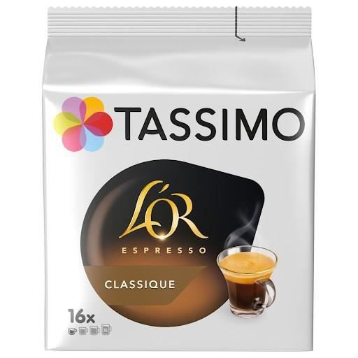 tassimo caf expresso 16 dosettes 104 g achat vente caf chicor e tassimo expresso 16. Black Bedroom Furniture Sets. Home Design Ideas