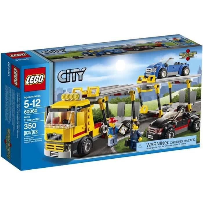 lego city 60060 camion de transport voitures achat vente assemblage construction cdiscount. Black Bedroom Furniture Sets. Home Design Ideas