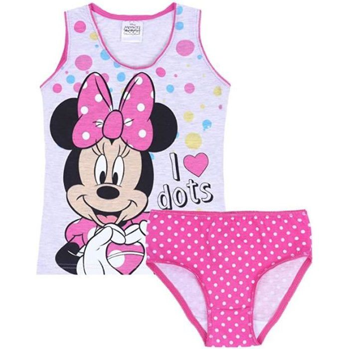 CULOTTE - SLIP Ensemble sous vêtements MINNIE DISNEY culotte + dé