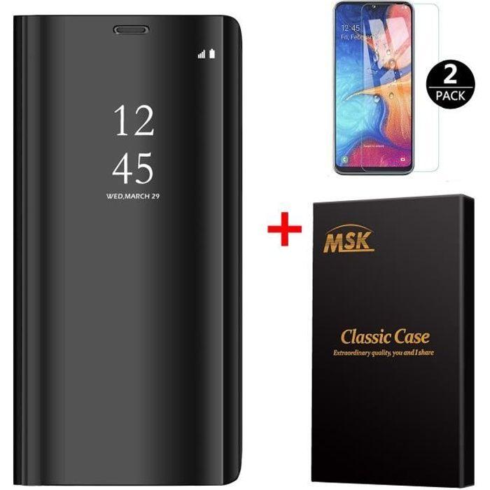 Coque Samsung A20E [2 Pack] Verre trempé, Miroir