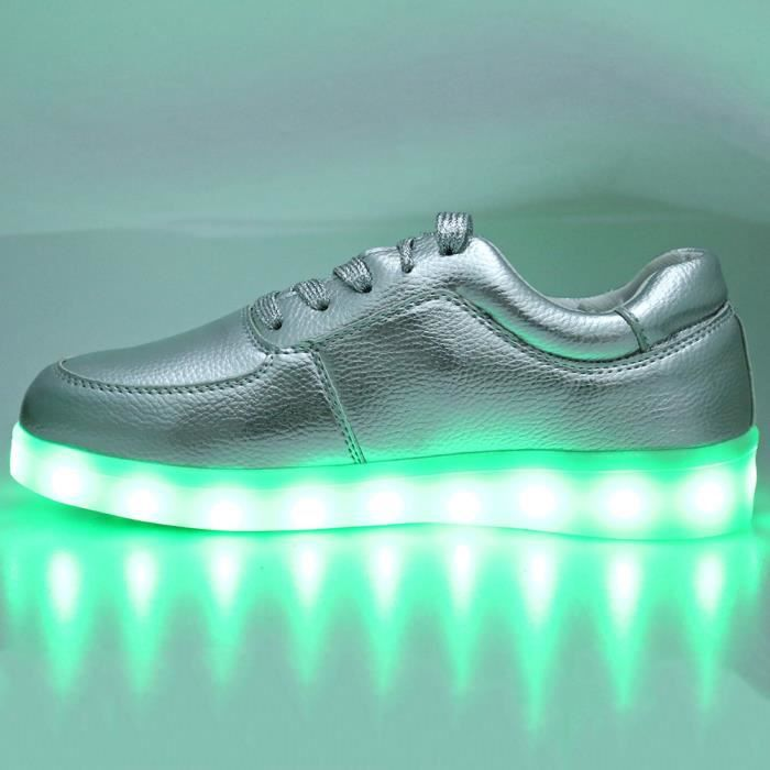LED de sport Lace Male Up USB Casual Charged Chaussures lumineux 8HqzwCtx