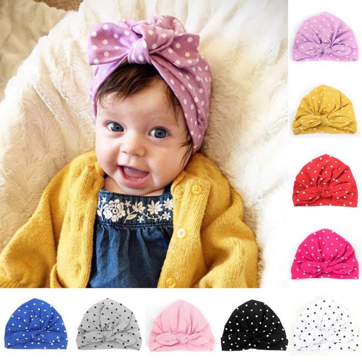 Baby Automne Nouveau-né Chapeau Infant Beanie Stars Style Coton en Tricot Chapeau Pour Hiver