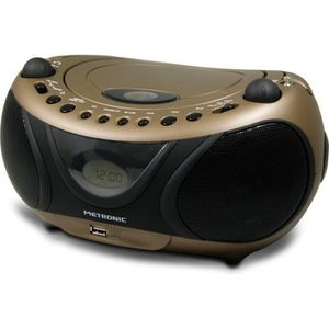 MET 477106 Radio CD-MP3 Copper and Black