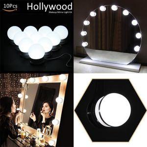 AMPOULE - LED 10 Lumières de Miroir de Vanité de Style d'Hollywo
