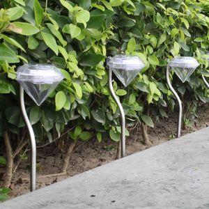 LAMPE DE JARDIN  Extérieur LED lumière solaire Pathway Paysage sol