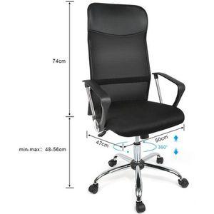 CHAISE DE BUREAU Chaise de Bureau en tissu respirant noir, Fauteuil
