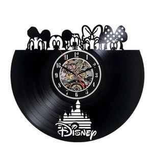 HORLOGE - PENDULE Disney Mickey Mouse Goofy horloge murale vinyle 12