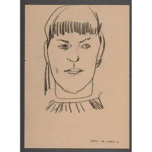 Dessin Portrait Femme Noir Et Blanc Peinture Maison Fait
