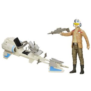 FIGURINE - PERSONNAGE Figurine avec véhicule Star Wars - Poe Dameron