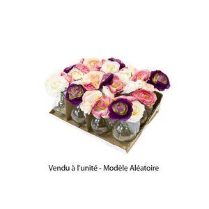 VASE - SOLIFLORE Petit vase de fleurs artificielles