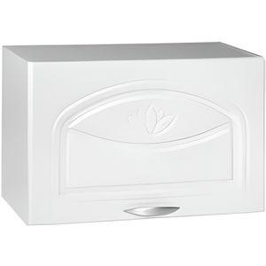 FINITION - PLINTHE Meuble de cuisine haut pour hotte 60 cm DINA blanc