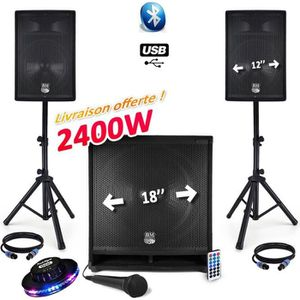 PACK SONO PACK SONORISATION COMPLET BM SONIC 2400W USB-BT MK