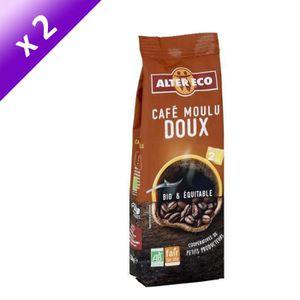 CAFÉ Lot de 2 - ALTER ECO Café moulu doux - 2 x 250g