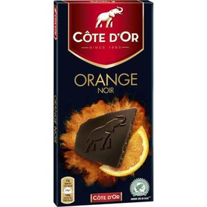 CHOCOLAT EN TABLETTE COTE D'OR Chocolat dégustation noir orange, 6 x 10