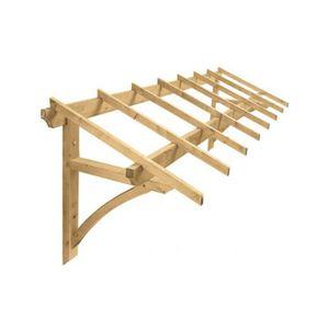 GARAGE Auvent 1 Pan en bois pour porte de garage 4 m² LOD