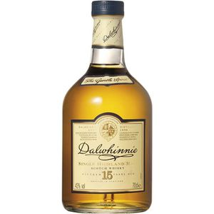 WHISKY BOURBON SCOTCH Dalwhinnie 15 ans - Highland Single Malt Whisky -