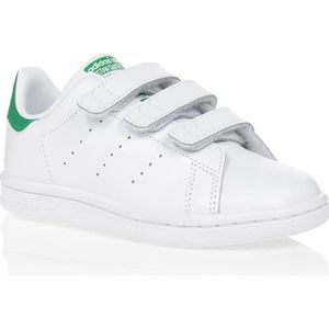 BASKET MULTISPORT ADIDAS Basket Stan Smith Junior - Blanc et vert