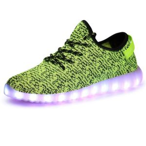 Chaussures lumineuses unisexe LED lumière lacets chaussures sport cctu2DzAYf