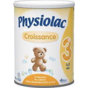 PURÉES DE LÉGUMES PHYSIOLAC 3 Croissance - lait en poudre 3eme âge -