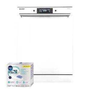 LAVE-VAISSELLE SHARP Lave Vaisselle posable blanc 45dB A++ 15 Cou