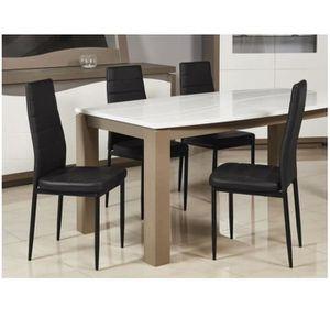 CHAISE TEENO Lot de 4 chaises de salle à manger - Simili