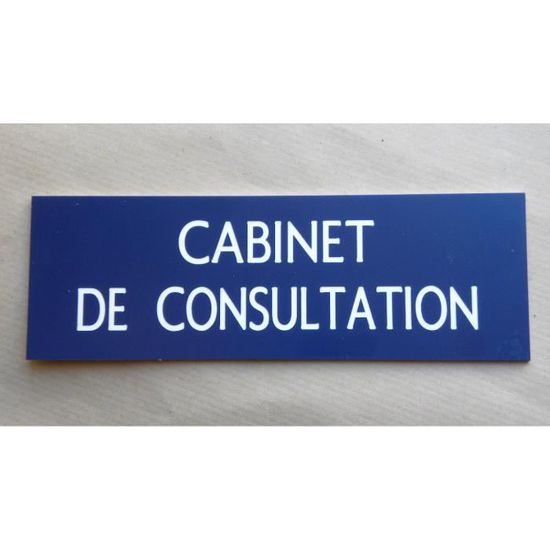 """plaque gravée /""""CABINET DE CONSULTATION/"""" Format 70x200 mm"""