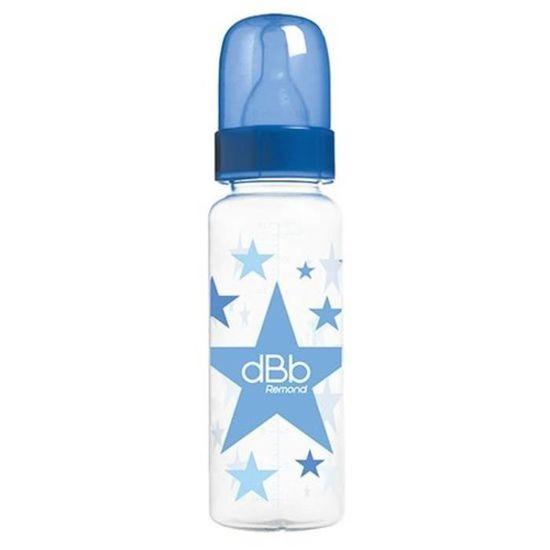 dBb Remond Biberon Polypropyl/ène au Motif C/œurs Forme Cylindrique Rose Fleur 270 ml
