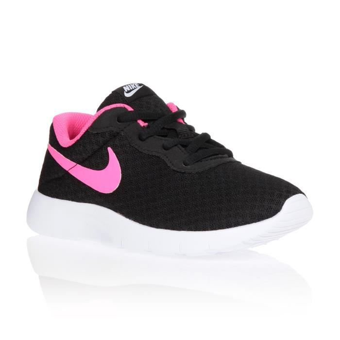nike baskets tanjun ps chaussures enfant fille blanc et. Black Bedroom Furniture Sets. Home Design Ideas