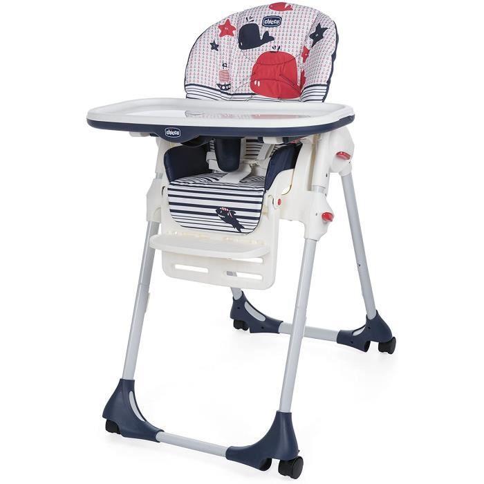 Chaises hautes, sièges et accessoires Chicco Polly Easy Chaise Haute avec 4 Roues Marine 412753