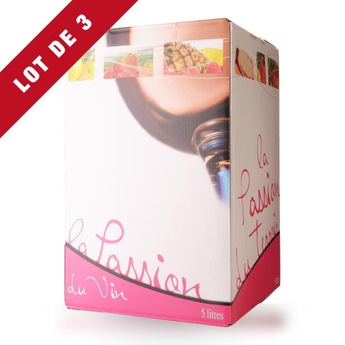 Lot de 3 - Bag-In-Box 5L Domaine de Lescure Rosé IGP Comté Tolosan - 3x500cl - Vin Rosé