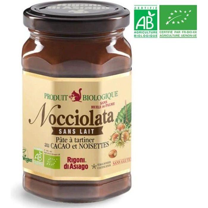 NOCCIOLATA Pâte à tartiner chocolat sans lait BIO 270 g